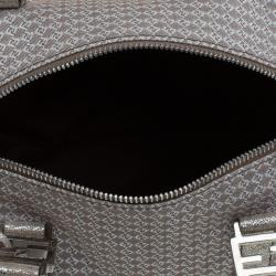 Fendi Metallic/Brown Canvas Forever Bauletto Boston Bag
