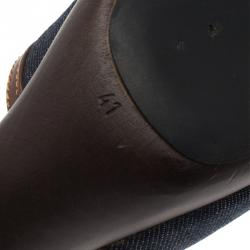 Fendi Blue Denim and Leather Slides Size 41