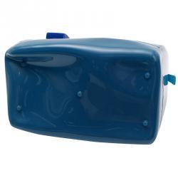 Furla Blue Glossy Rubber Candy Satchel Bag