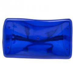 Furla Blue Gloss PVC Candy Satchel Bag