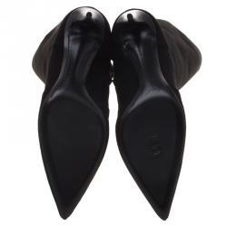 Giuseppe Zanotti Black Suede Knee Boots Size 37.5