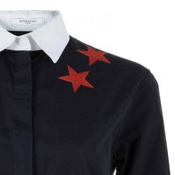 Givenchy Contrast Collar Star Detail Shirt XXS