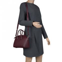 Givenchy Burgundy Leather Mini Antigona Satchel