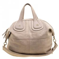 Givenchy Beige Croc Embossed Leather Medium Nightingale Tote cbf92529a0dab