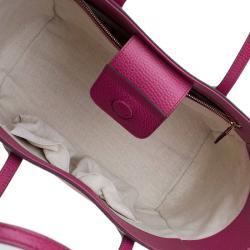 Gucci Fuchsia Leather Small Swing Tote