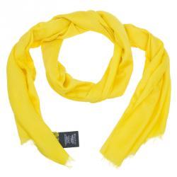Gucci Yellow Wool and Silk GG Jacquard Stole