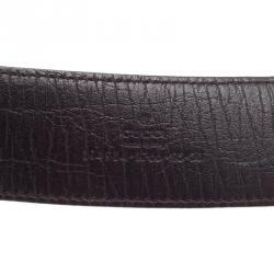 Gucci Beige Canvas Interlocking G Buckle Plus Belt 95CM