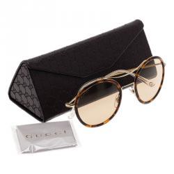 Gucci Tortoise Frame GG4252 Round Sunglasses