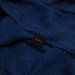 Gucci Navy Blue Interlocking GG Scarf