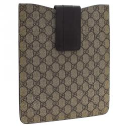 Gucci Brown Guccissima Canvas and Leather iPad Cover