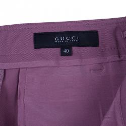 Gucci Mauve Tapered Trousers M