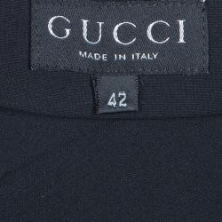 Gucci Black Wrap Around Belted Dress M