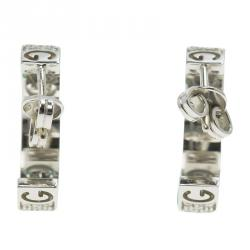Gucci Icon Stardust Diamond & 18K White Gold Hoop Earrings