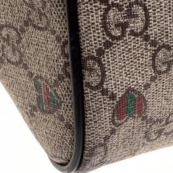 Gucci Beige GG Supreme Canvas Joy Web Heart Tote