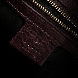 Gucci Dark Purple Leather Small Hysteria Satchel