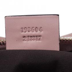 Gucci Pink Crystal Coated Canvas GG Small Joy Boston Bag