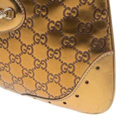 Gucci Bronze Guccissima Leather Medium Jackie Hobo Bag