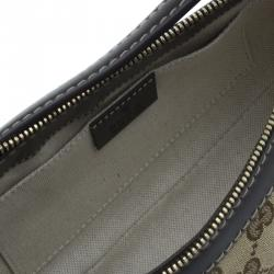 Gucci Beige/Brown GG Canvas Small Mayfair Bow Shoulder Bag
