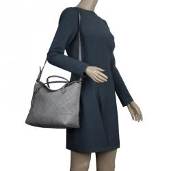 Gucci Grey Guccissima Leather Medium Bree Top Handle Bag
