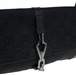 Gucci Black GG Canvas Small Abbey Shoulder Bag
