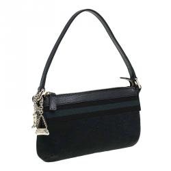Gucci Black GG Canvas Web Jolicoeur Pochette Bag
