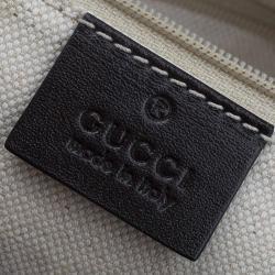 Gucci Beige/Ebony GG Canvas Medium Sukey Messenger Bag