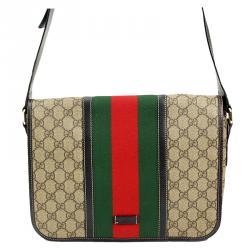 Gucci GG Plus Canvas Web Messenger Bag
