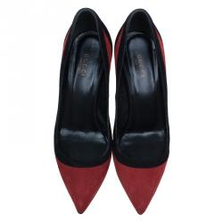 Gucci Colorblock Suede Brooke Pumps Size 37.5