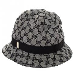 Gucci Grey GG Monogram Bucket Hat Size M