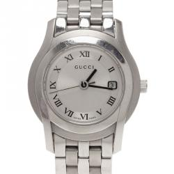 ca393b4e1cb Gucci Silver Stainless Steel 5500L Women s Wristwatch 28MM