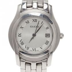 6e5658f1f93 Gucci Silver Stainless Steel 5500L Women s Wristwatch 24MM