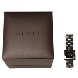 Gucci Black Stainless Steel 3600L Women's Wristwatch 23MM
