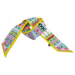 Hermes Multicolor Silk Twilly Bandeau