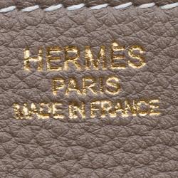 Hermes Etain Togo Leather Gold Hardware Birkin 35 Bag