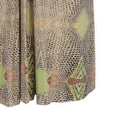 Issa Beige Geometric Silk Jersey Dress M