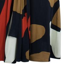 Issa Multicolor Abstract Silk Jersey Maxi Dress M