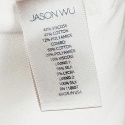فستان جيسون وو ريزورت' 15 مزين بدانتيل أبيض  S