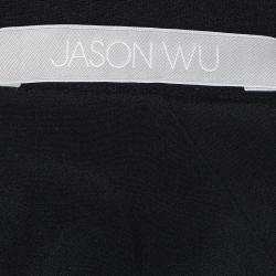 تنورة جيسون وو تريكو أسود بقصة حرف A بطول الركبة L