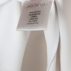 سروال جيسون وو مفصل أبيض M