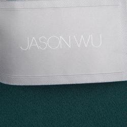 فستان جيسون وو أخضر طبقات بلا أكمام S