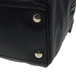Jimmy Choo Black Leather Justine Satchel