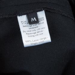 Joseph Black Buckle Detail Wool Skirt M