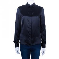 Just Cavalli Black Silk Shirt M