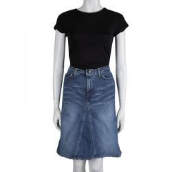 Just Cavalli Indigo Washed Denim Skirt M