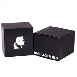 Karl Lagerfeld Black Gold-Plated Stainless Steel KL1409 Unisex Wristwatch 44MM