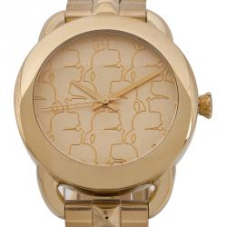 Karl Lagerfeld Champagne Gold-Plated Stainless Steel KL2204 Women's Wristwatch 40MM