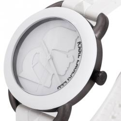 Karl Lagerfeld White Stainless Steel KL2214 Women's Wristwatch 40MM