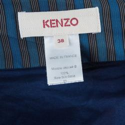 Kenzo Multicolor Gathered Cotton Maxi Skirt M