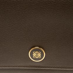 Loewe Carob Brown Leather Continental Wallet