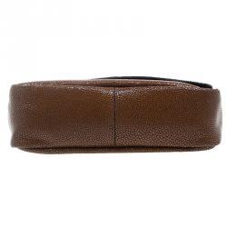 Longchamp Brown Stingrsy Embossed Leather Honore Crossbody Bag